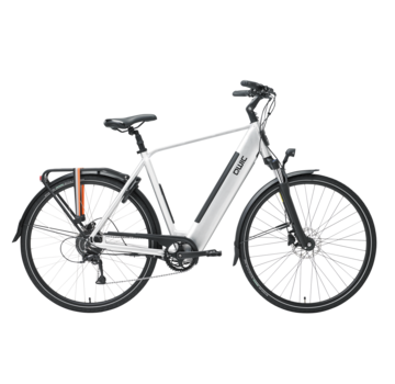 Qwic e-bike urban rd9 brushed aluminum Elektrische fiets heren