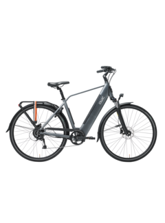 Qwic e-bike urban rd9 stone grey Elektrische fiets heren