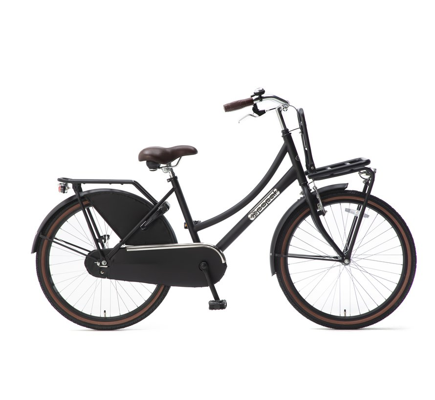 Daily Dutch Basic 24 Meisjesfiets mat zwart