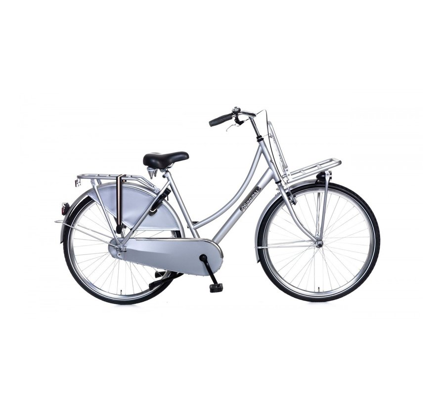 Daily Dutch Basic Dames Transportfiets zilver