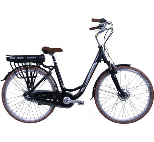 Vogue basic 3v e-bike Elektrische fiets dames zwart/bruin