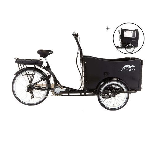 Popal cangoo travel 2021  Elektrische bakfiets Zwart Zwart