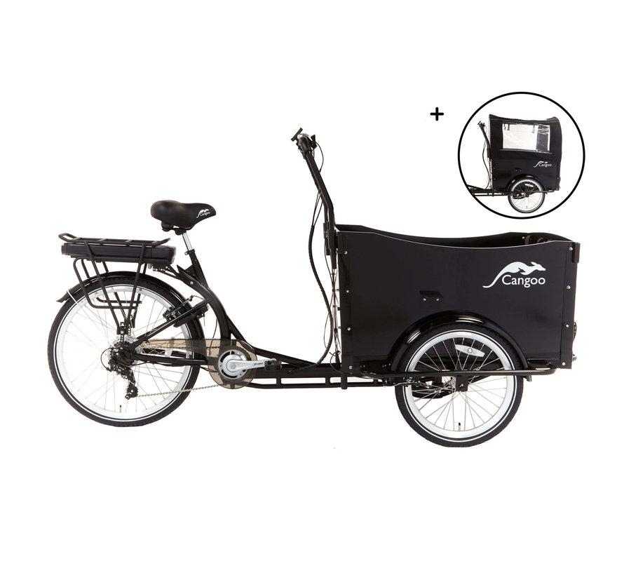 cangoo travel 2021  Elektrische bakfiets Zwart Zwart