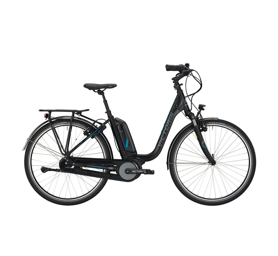 etrekking 7.4h black matt/blue glossy 2020 Elektrische fiets dames