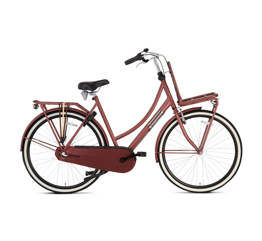 Daily Dutch Basic+ Damesfiets red