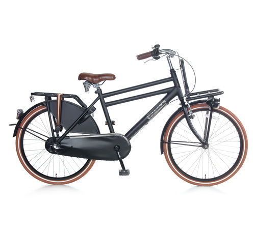 Popal Daily Dutch Basic 24+ Jongensfiets mat zwart