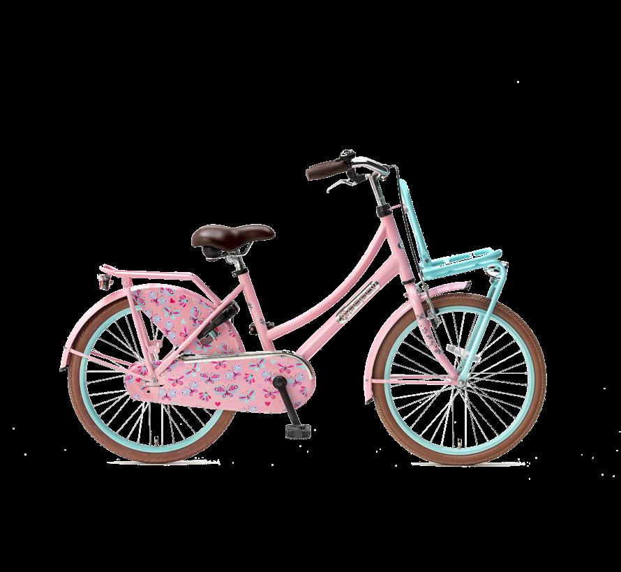 Daily Dutch Basic 22 Meisjesfiets roze