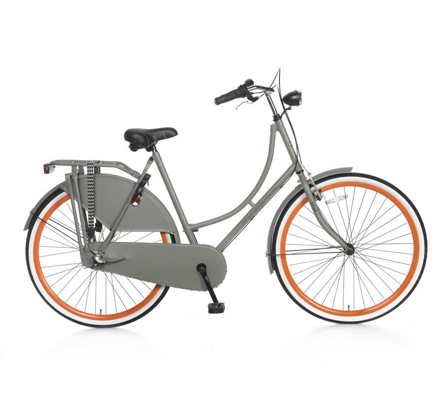 Omafiets S3 28 inch Grijs Oranje