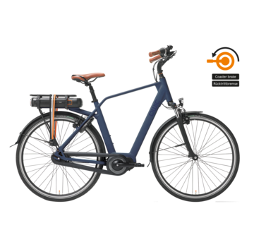 Qwic e-bike premium mn7c midnight blue Elektrische fiets heren