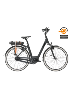 Qwic e-bike premium mn7c matte black Elektrische fiets dames