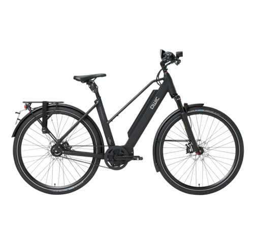 Qwic e-bike performance ma11 speed trapez black Elektrische fiets dames