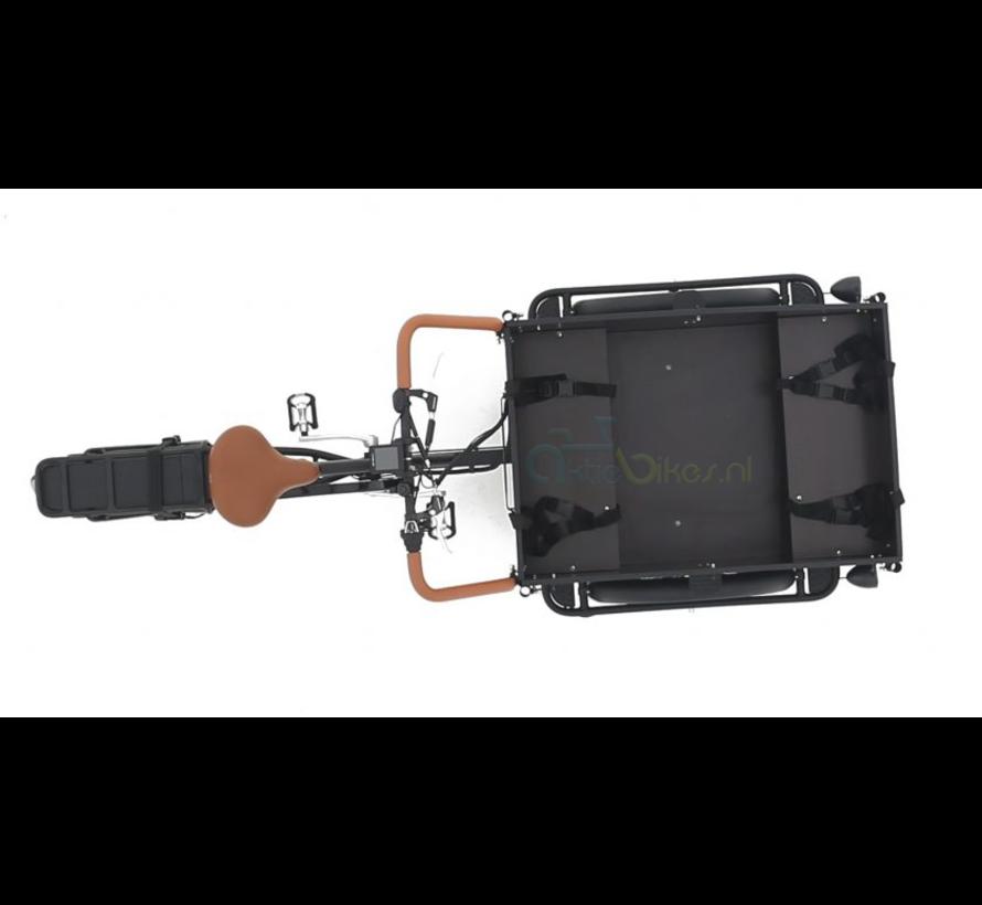 Troy 2021 mat zwart/bruin Elektrische bakfiets