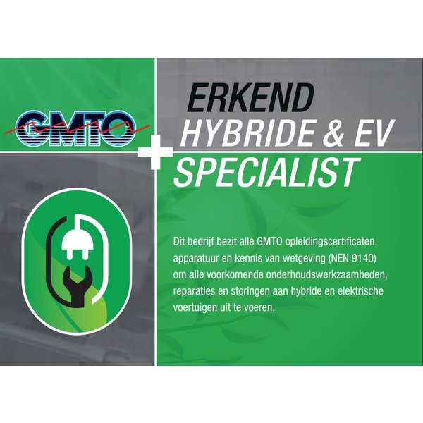GMTO Hybrid & EV Specialist - 2 Training Days, Equipment and Certification