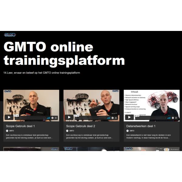 6 maanden toegang tot het GMTO online trainingsplatform voor het hele bedrijf