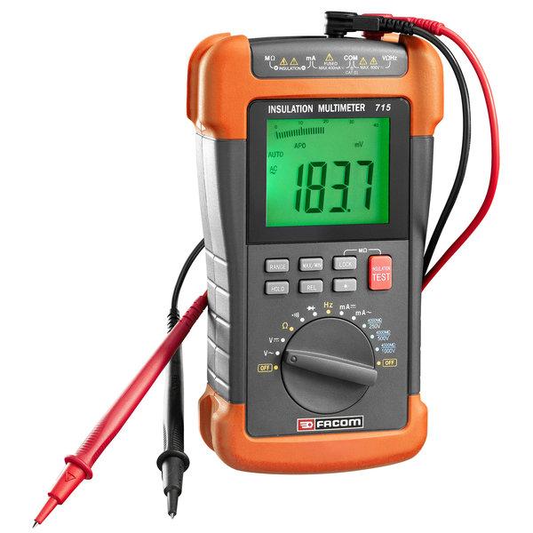 Een multimeter voor detectie van lekstromen.