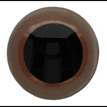 Veiligheidsogen tweekleurig (bruin) 6mm