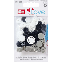 Love drukknoop Color KST 12,4 mm marine/grau/weiß