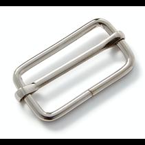 regelbare gesp 30 mm zilver