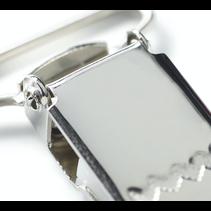 bretel-Clips ST 25 mm zilver
