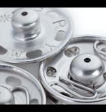 Prym Aannaaibare drukknoop MS 6-11 mm zilver