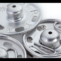 Aannaaibare drukknoop MS 6-11 mm zilver