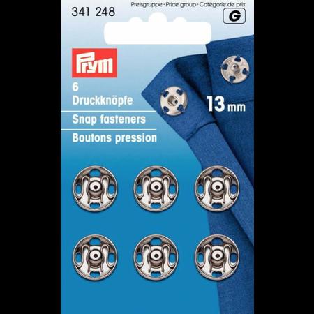 Prym Aannaaibare drukknoop MS 13 mm zilver