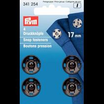 Aannaaibare drukknoop MS 17 mm zwart