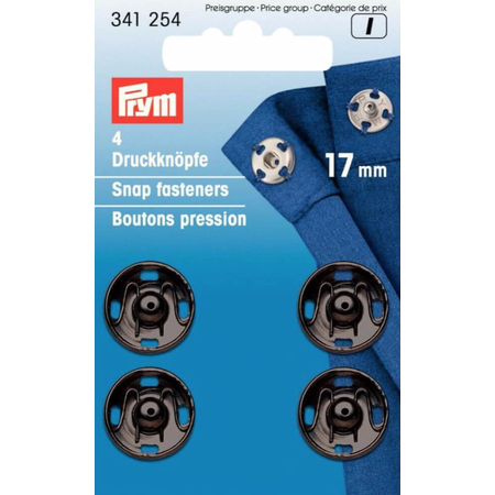 Prym Aannaaibare drukknoop MS 17 mm zwart