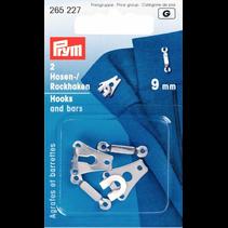 broek/rokhaken  ST 9 mm zilver