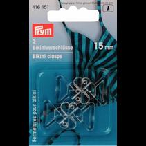Bikini centuursluiting klaverblad 15 mm transp.