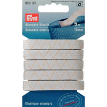Standaard elastiek 10mm wit 5m