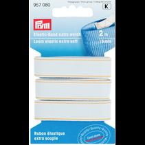 Band-elastiek extra zacht 15mm wit 2m