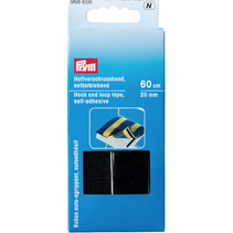 Klittenbandsluiting zelfklevend 20 mm zwart