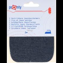 Kniestukken Jeans opstrijkbaar 2st 071 d blauw