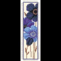 Bladwijzer Telpakket blauwe anemonen