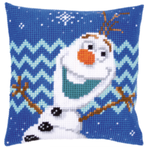 Kruissteekkussen Kit Olaf Frozen 2