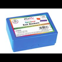 Rainbow Knitblockers doosje met 20 blockers