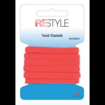 Twist Elastiek 8mm 5m  Neon Rood