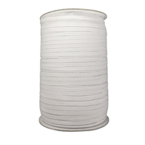 Platte elastiek 4mm Wit