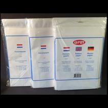 Patroonpapier 2m2 transparant