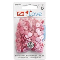Love drukknoop Color Snaps Mini 9 mm roze