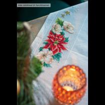 Aida tafelkleed kit kerstbloemen