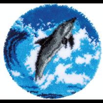 Knoopvormtapijt kit dolfijn