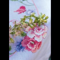 Tafelkleed kit bloemen en vlinders