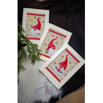 Telpakket 3 kerstkaarten met omslag