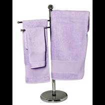 Handdoek spons 50x100cm paars per 3 stuks