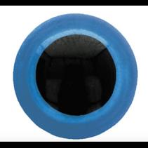 Veiligheidsogen tweekleurig blauw 18mm
