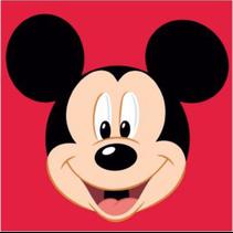 Borduurpakket Mickey Rood