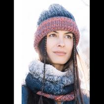 Breipakket Knit-ensemble muts en sjaal  kleur 404