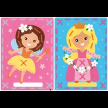 Borduurkaart kit Princes en de fee (set van 2)